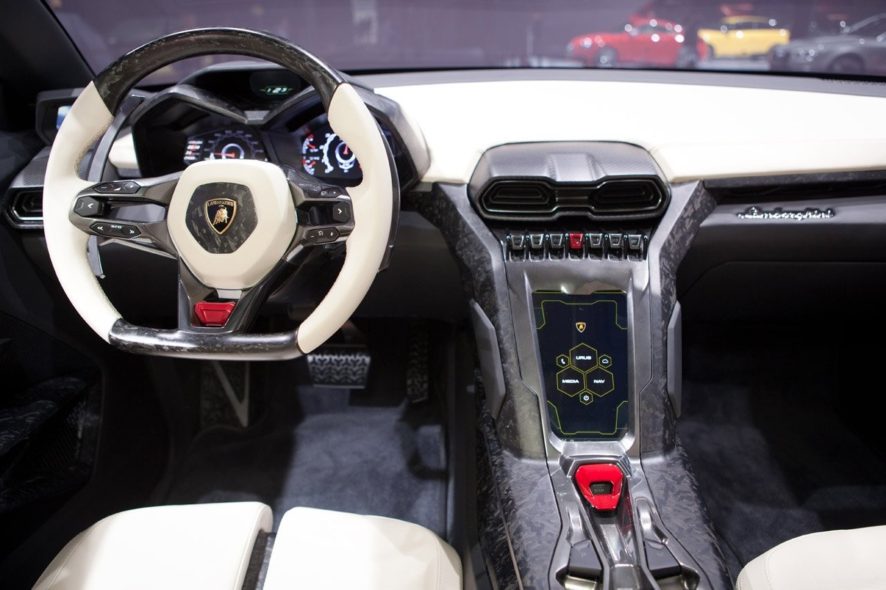 Image with Lamborghini Urus interior at Beijing