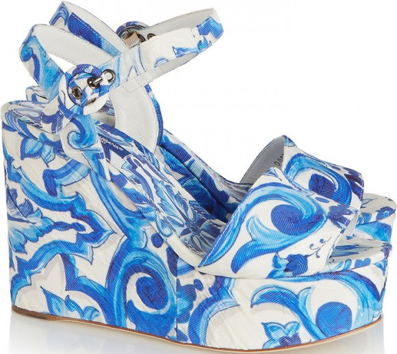blue-white-Dolce-Gabbana-Printed-faille-wedge-sandals