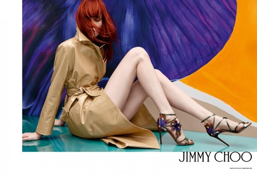 Во чевлите на  Jimmy Choo пролетта изгледа најубаво