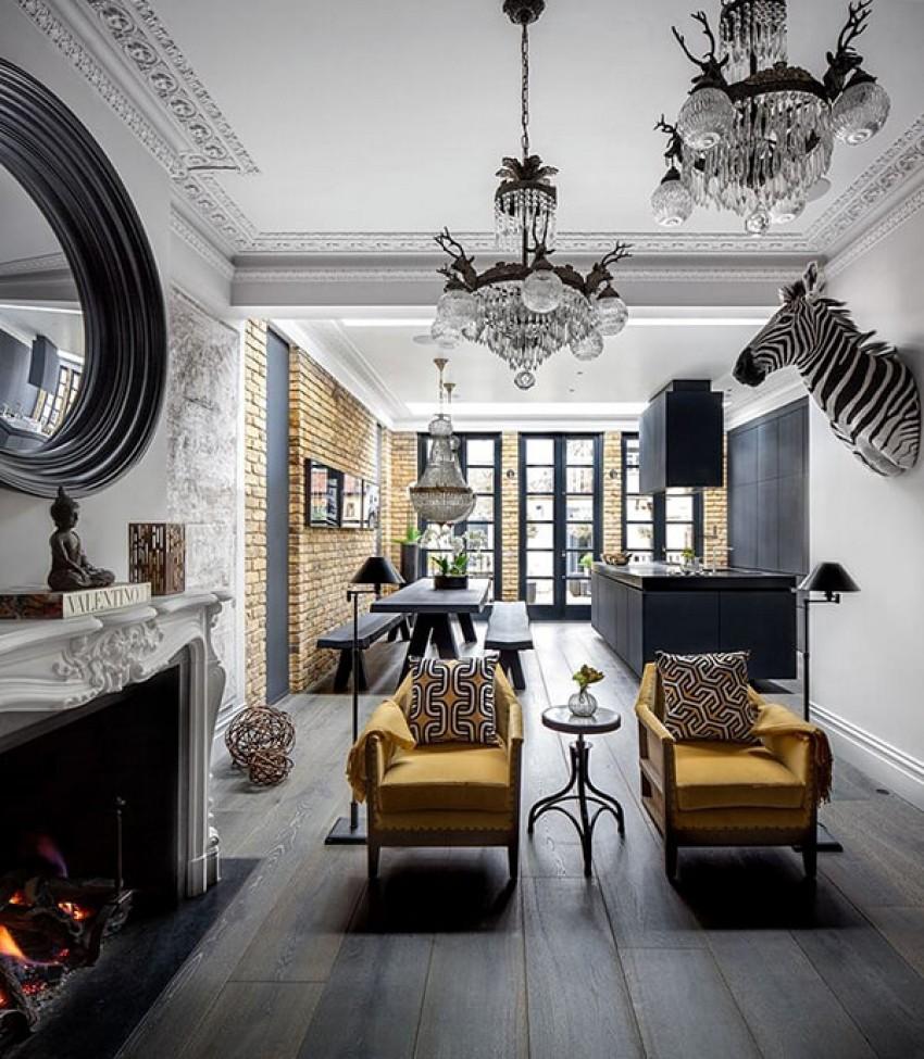 Софистициран ентериер во лондонска резиденција