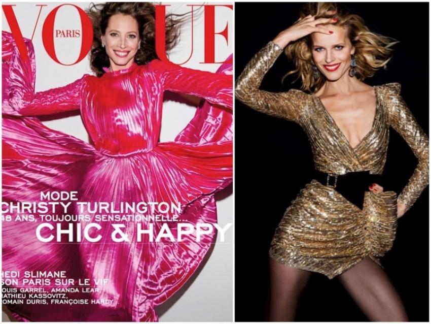 Тие не стареат  Christy Turlington и Eva Herzigova во априлскиот број на Vogue