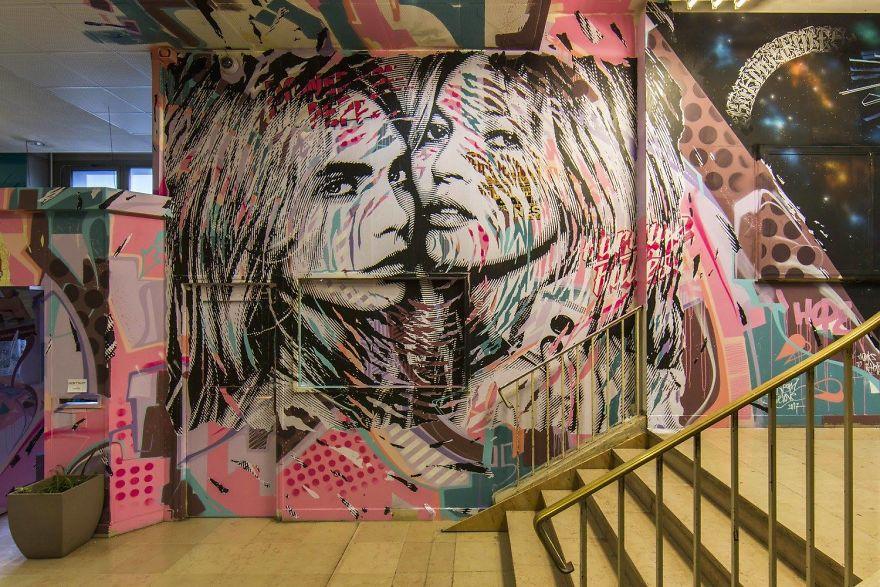 Студентски дом во Париз разубавен со графити