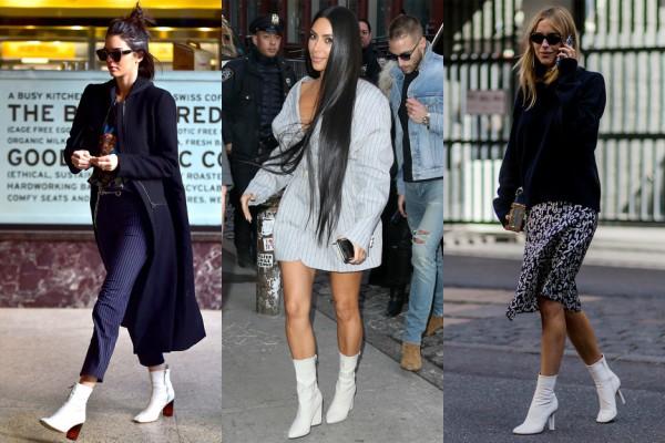 Белите чизмички до глужд се хит на модната есенска сезона