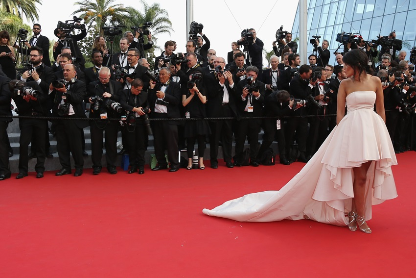"CANNES, FRANCE - MAY 13:  Leila Bekhti attends the opening ceremony and premiere of ""La Tete Haute"" (""Standing Tall"") during the 68th annual Cannes Film Festival on May 13, 2015 in Cannes, France.  (Photo by Danny E. Martindale/Getty Images for Kering)"