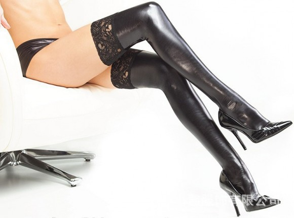 Hot-Sale-Shiny-Sexy-Lingerie-Women-Sexy-Black-font-b-PVC-b-font-Leather-Stockings-Womens