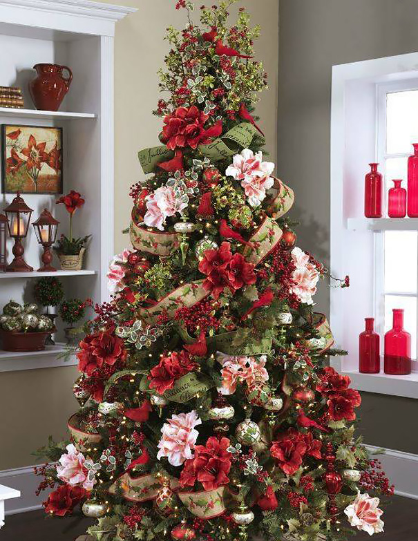 floral-christmas-tree-decorating-ideas-28-605