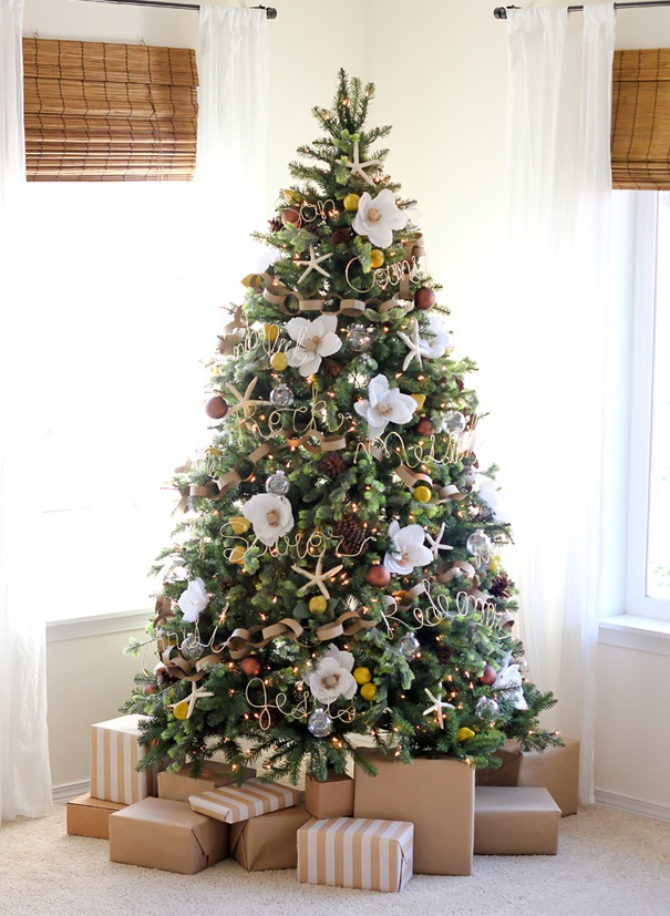 floral-christmas-tree-decorating-ideas-29-605