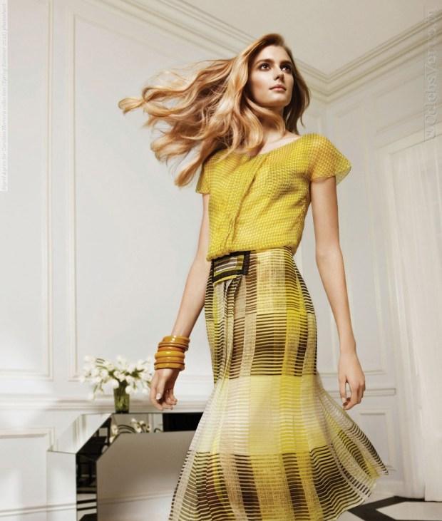Sigrid Agren for Carolina Herrera collection (Spring Summer 2012) photoshoot