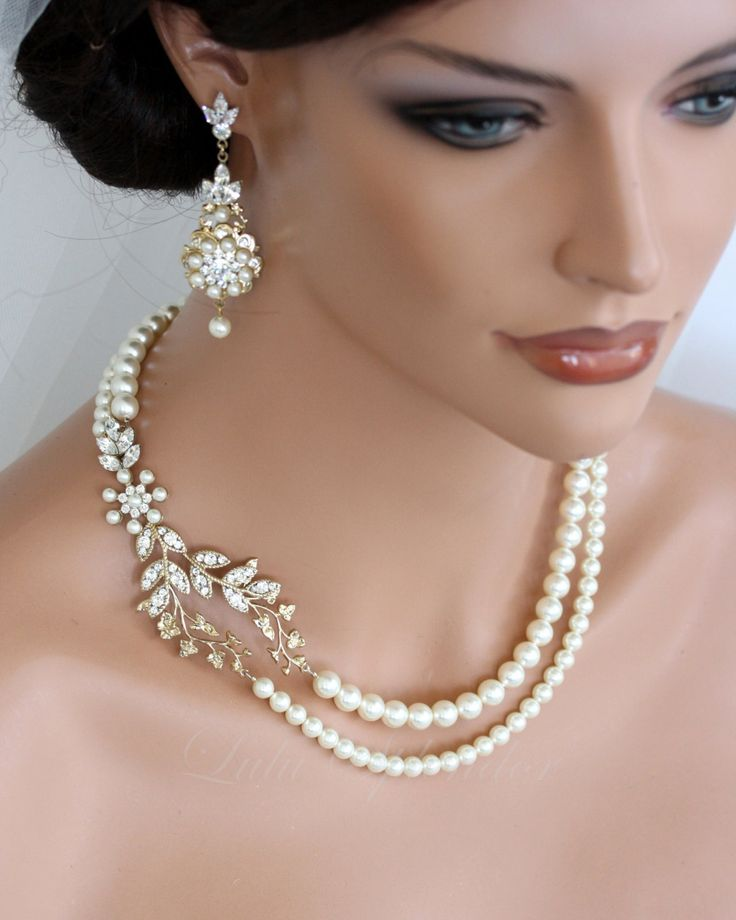 Fabulous-gold-with-pearl-necklace-designs