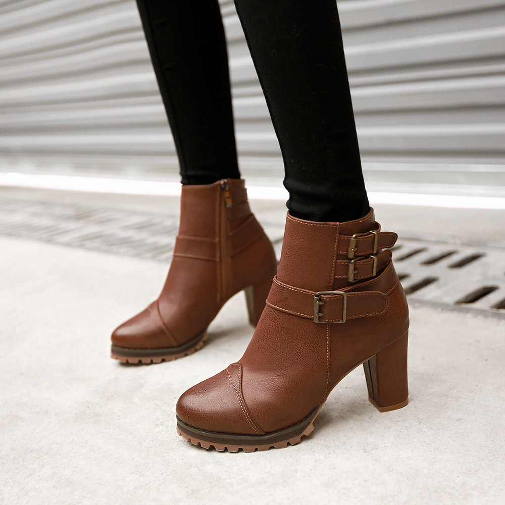 Women-Boots-2015-New-Arrival-Autumn-High-Heel-Shoes-Woman-Fashion-Korean-Buckle-PU-Leather-Solid