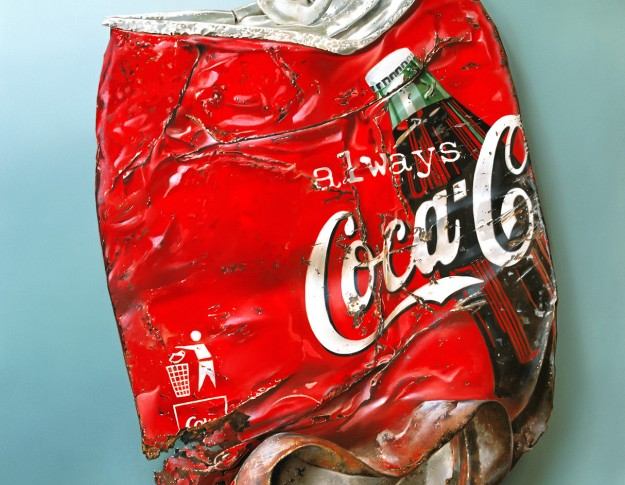 oil painting and print of coke can by artist tjalf sparnaay